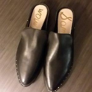 Sam Edelman New Size 9.5 black  leather mules